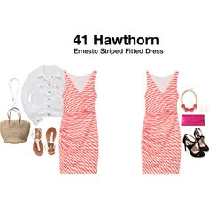 Dear stylist, I love the faux wrap look of this dress if you think it would work for a curvy figure? Tits and hips? Haha! Thanks , Jessica Ernesto Striped Fitted Dress by hanger731x on Polyvore featuring polyvore, fashion, style, Zara, Old Navy, L.K.Bennett, J.Crew and Maison Margiela