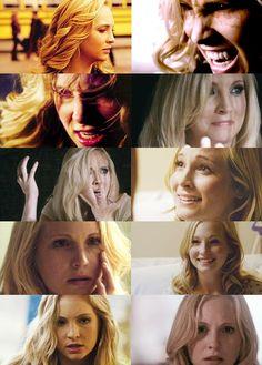 Caroline faces. Season 2. Caroline Forbes. The Vampire Diaries. ♥