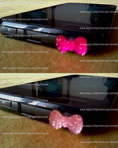 Tappo antipolvere mini-fiocco rosa/fucsia glitter x jack cuffie 3.5mm universale - www.tappi-antipolvere-per-smartphone.tk