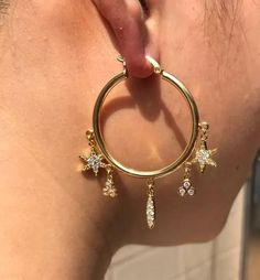 bca1e7bf223dc Buy Kisma Charm Hoop Earrings at Body Kandy Couture. Shop online dangle  charm earrings