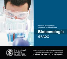 #Grado en #Biotecnología de la #UCV #EmpleabilidadUCV #TuGradoUCV