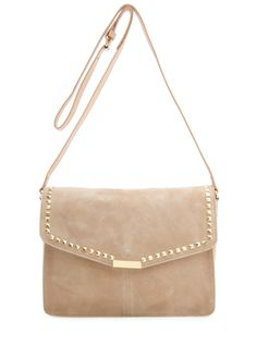 MANGO TOUCH - Leather messenger handbag