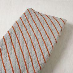 Little Prints Changing Pad Cover (Orange Stripe)