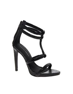 ASOS-KG by Kurt Geiger Grace Black Leather Single Sole Sandals
