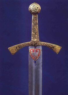 Szczerbiec Coronation Sword, Poland (13th c.; steel blade, silver hilt).
