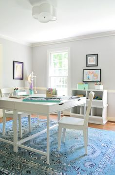 Young House Love | Easy Makeover: A Hardworking Homework Room | http://www.younghouselove.com
