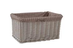Hamptons White Storage Basket - Large RRP $69