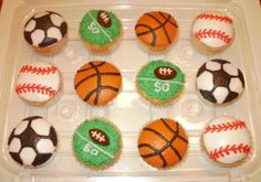 Sport ball cupcakes By SueB on CakeCentral.com