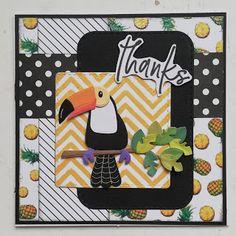Made by Nicolette: Fruitige toucan Marianne Design, Pot Holders, Flamingo, Envelope, Birds, Scrapbook, Deco, Tags, Flamingo Bird