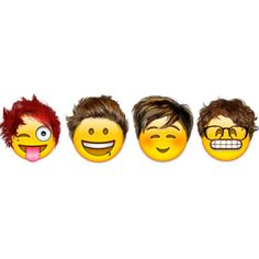 Veja como seriam os famosos em formato emoji ❤ liked on Polyvore featuring fillers, 5sos, other und backgrounds