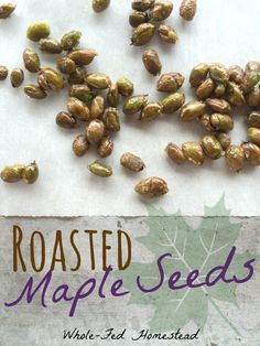 Roasted Maple Seeds from Whole-Fed Homestead