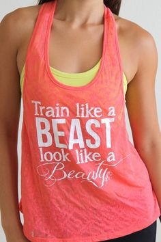 Train Like a BEAST Look Like a BEAUTY in Coral.  Cute workout gear!
