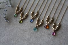 Delicate goldfilled & gem necklaces by ATELIER Gaby Marcos