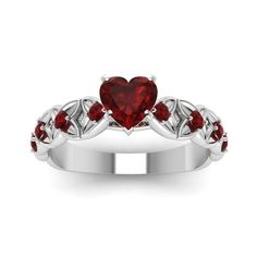 Shaped Ruby Engagement Rings Heart Shaped Colored Engagement Rings with Red Ruby in 950 Platinum exclusively styled by Fascinating DiamondsHeart Shaped Colored Engagement Rings with Red Ruby in 950 Platinum exclusively styled by Fascinating Diamonds Cute Jewelry, Jewelry Rings, Jewelery, Jewelry Accessories, Jewellery Stand, Red Jewelry, Vintage Jewellery, Gold Jewellery, Antique Jewelry