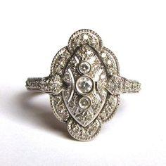 Art Deco ring via Etsy weddding