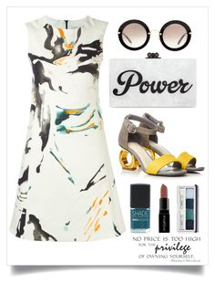 """""""Power"""" by cara-mia-mon-cher ❤ liked on Polyvore featuring Eggs, Edie Parker, Miu Miu, SHADE Collection, Smashbox and Clinique"""