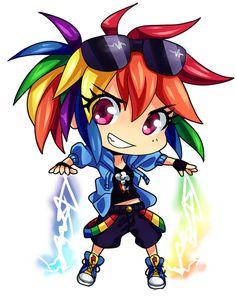 Rainbow Dash Chibi by *semehammer on deviantART
