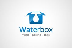 Water Box Logo Template by gunaonedesign on Creative Market