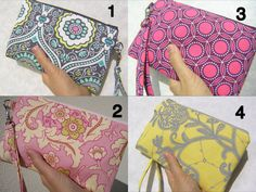 WEDDING CLUTCH gift pouch 2 pockets bridesmaids wristlet zipper pouch wallet spring wedding favours