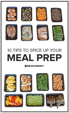 10 Tips to Meal Prep Without Getting Bored Healthy Eating Recipes, Healthy Meal Prep, Healthy Food, Fixate Recipes, Healthy Plate, Lunch Meal Prep, Meal Prep For The Week, Eating Plans, Diet And Nutrition