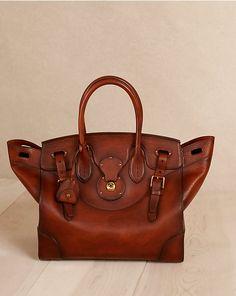 Medium Soft Ricky Bag - Top Handles & Satchels  Handbags - RalphLauren.com