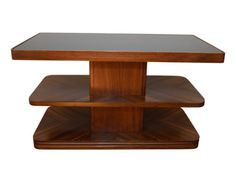 Vintage-American-Art-Deco-Walnut-Veneer-Side-Table-circa-1930s