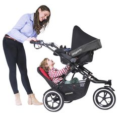 phil&teds navigator stroller is perfect for siblings using the double kit seat and infant car seat