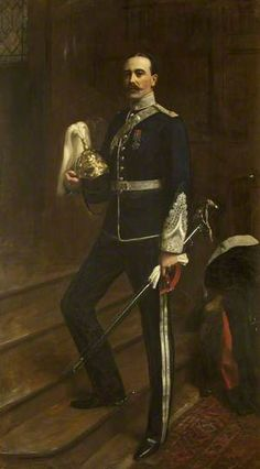 Portrait of George Abraham Gibbs Baron Wraxall of Tyntesfield, 1908 by Albert Henry Collings (British a British Conservative politician. Military Art, Military History, Military Uniforms, Artist Biography, English Artists, Oil Portrait, Creative Artwork, Art Uk, Museum Of Fine Arts
