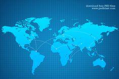 Вектор Всемирная карта фон (PSD)