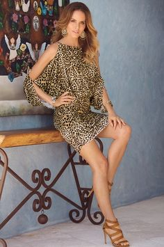 Get ready for compliments in this fierce printed dress with our signature  slimming tummy panel. 51e3b7f817a0