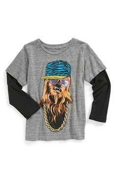 Mighty Fine 'Hip Hop Wookie' T-Shirt (SIZE 4-8 bOYS) available at #Nordstrom