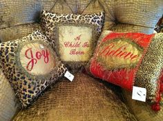 Reilly Chance holiday pillows!!