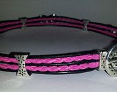 Dressy Pretty in Pink adorable  slave/submissive Collar -  BDSM  Item (46). $40.00, via Etsy.