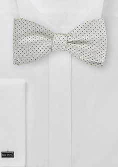 0ece8bbdc9aa Self Tie Bow Tie in Silver and Black - ties shop - bow ties