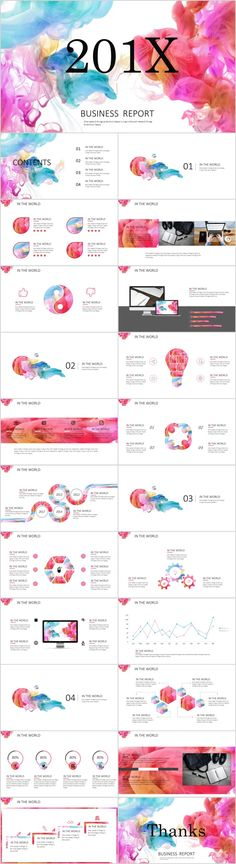 23+ colorful business report PowerPoint templates  #powerpoint #templates #presentation #animation #backgrounds #pptwork.com#annual#report #business #company #design #creative #slide #infographics #charts #themes #ppt #pptx#slideshow#keynote#office#microsoft#envato#graphicriver#creativemarket Simple Powerpoint Templates, Professional Powerpoint Templates, Keynote Template, Presentation Slides, Business Presentation, Presentation Design, Keynote Design, Web Design, Data Visualization