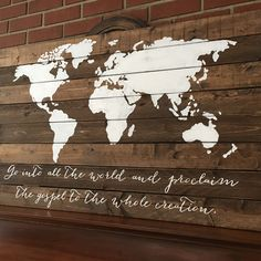 Finished up another beautiful world map sign today! Ready to be shipped tomorrow! :)