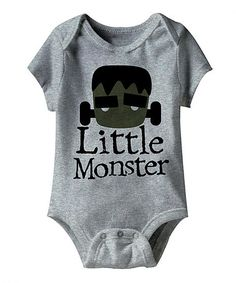 Look what I found on #zulily! Heather Gray 'Little Monster' Bodysuit - Infant #zulilyfinds