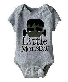 Look what I found on #zulily! Heather Gray 'Little Monster' Bodysuit - Infant #zulilyfinds