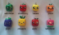 Assorted Cube Fruit Charms by ~ChibiBeeBee on deviantART