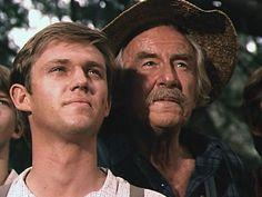 Richard Thomas as John Boy & Will Geer as Zebulon (Grandpa) Walton - The Waltons