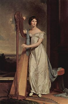 Thomas Sully / Portrait of Eliza Ridgely with a Harp 1818