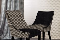 Timeless Interiors CUSTOM UPHOLSTERED DINING CHAIRS - ART DECO INSPIRED SHAPE - Timeless Interior Designer