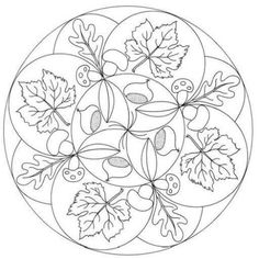 Fall mandala coloring pages Mandala Coloring Pages, Coloring Book Pages, Printable Coloring Pages, Coloring Pages For Kids, Coloring Sheets, Autumn Crafts, Art Plastique, Mandala Design, Pyrography