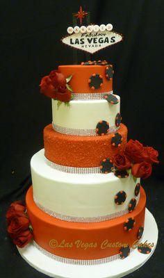 Vegas Wedding Cake by Las Vegas Custom Cakes