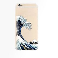 For iPhone 7 Plus Waves Pattern TPU Material Phone Case for iPhone 6 Plus fa8edc883017c