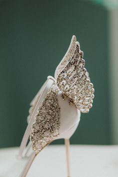 Sophia Webster wedding shoes // Chic Wedding at Home by Pawel Bebenca // www.onefabday.com