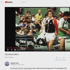 We are still creating our next collection. But if you ever have the chance watch 'The French (1981)' on YouTube. It is a gorgeous documentary of Roland Garros 1981. The pace of life was slower and simpler. And likewise the doc plays like an orchestral piece with subtle movements. This movie has been a huge inspiration to Stick It Wear?! Enjoy!  #tennis