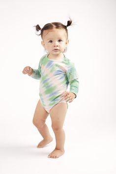 "Lizzie body tie dye Wildkind Kids ""Hippie Ever After"" One Drop, Baby Body, Ever After, Cute Kids, High Fashion, Organic Cotton, Tie Dye, Unisex, Long Sleeve"