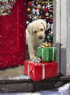 Puppy With Presents