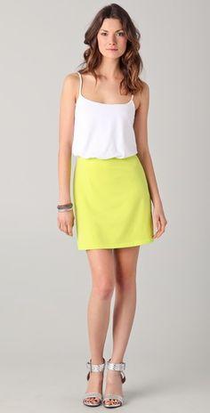 $80 USD so bright! Susana Monaco Ricci Colorblock Mini Dress
